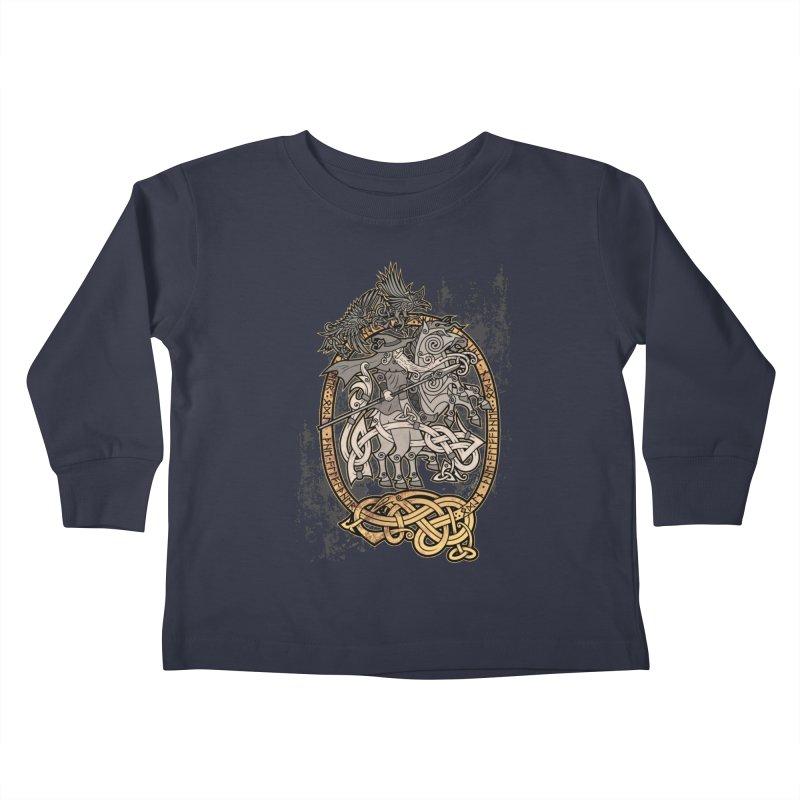 Odin the Wanderer Kids Toddler Longsleeve T-Shirt by Celtic Hammer Club Apparel