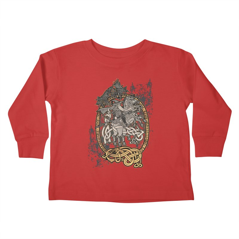 Odin the Wanderer Kids Toddler Longsleeve T-Shirt by Celtic Hammer Club Apparel