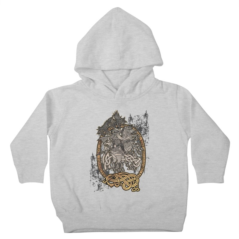 Odin the Wanderer Kids Toddler Pullover Hoody by Celtic Hammer Club Apparel
