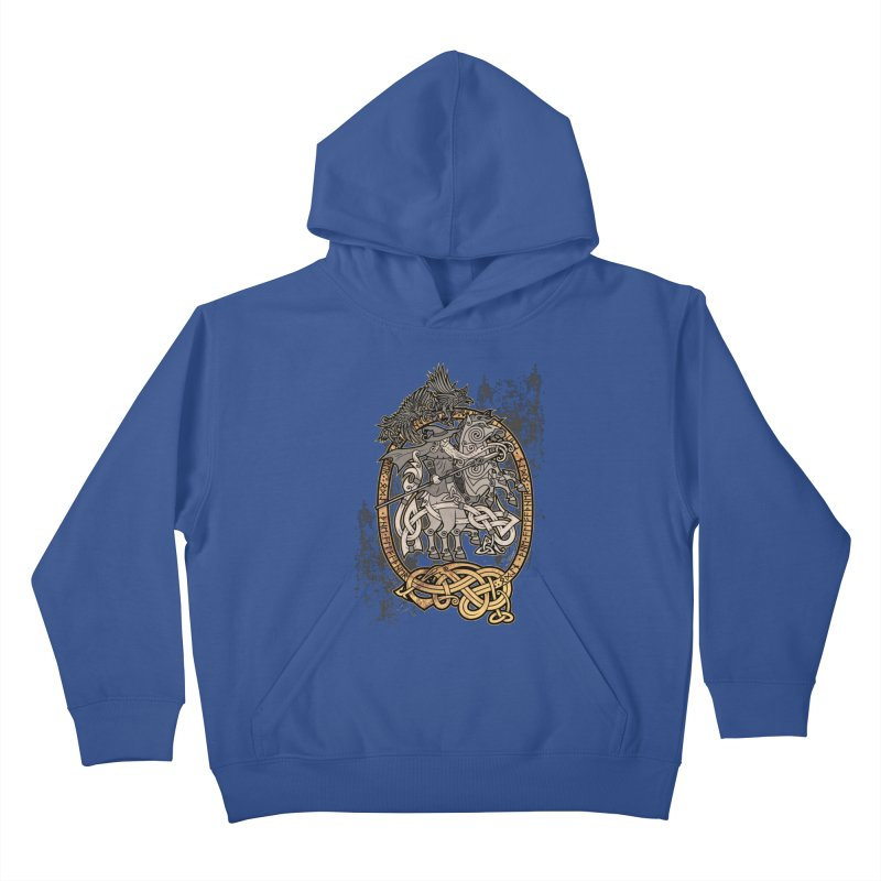 Odin the Wanderer Kids Pullover Hoody by Celtic Hammer Club