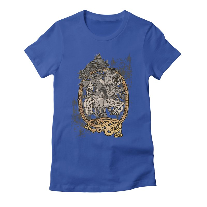 Odin the Wanderer Women's Fitted T-Shirt by Celtic Hammer Club Apparel