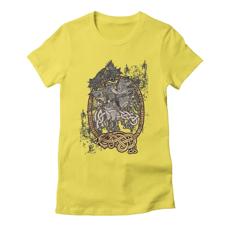 Odin the Wanderer Women's Fitted T-Shirt by Celtic Hammer Club