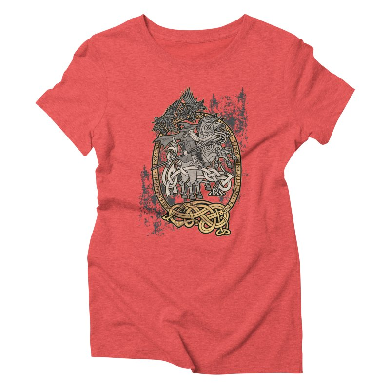 Odin the Wanderer Women's Triblend T-Shirt by Celtic Hammer Club Apparel