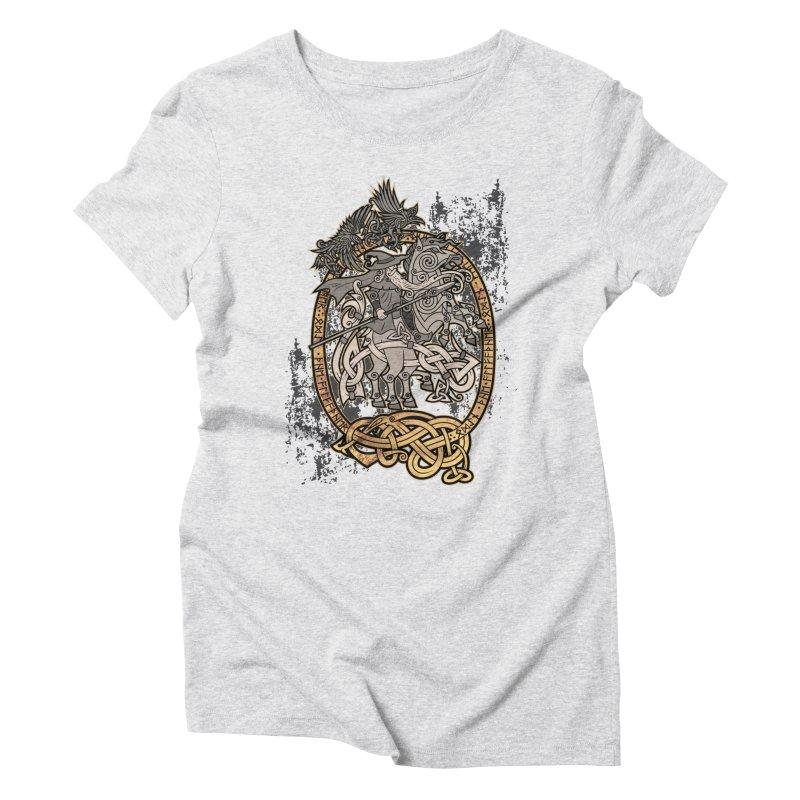 Odin the Wanderer Women's Triblend T-Shirt by Celtic Hammer Club