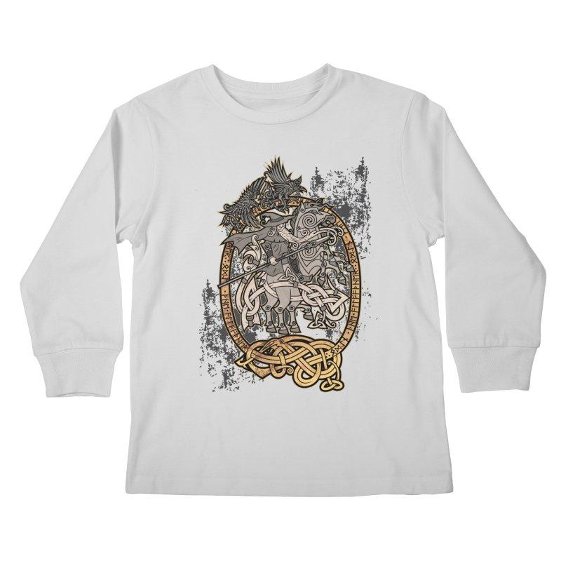 Odin the Wanderer Kids Longsleeve T-Shirt by Celtic Hammer Club Apparel