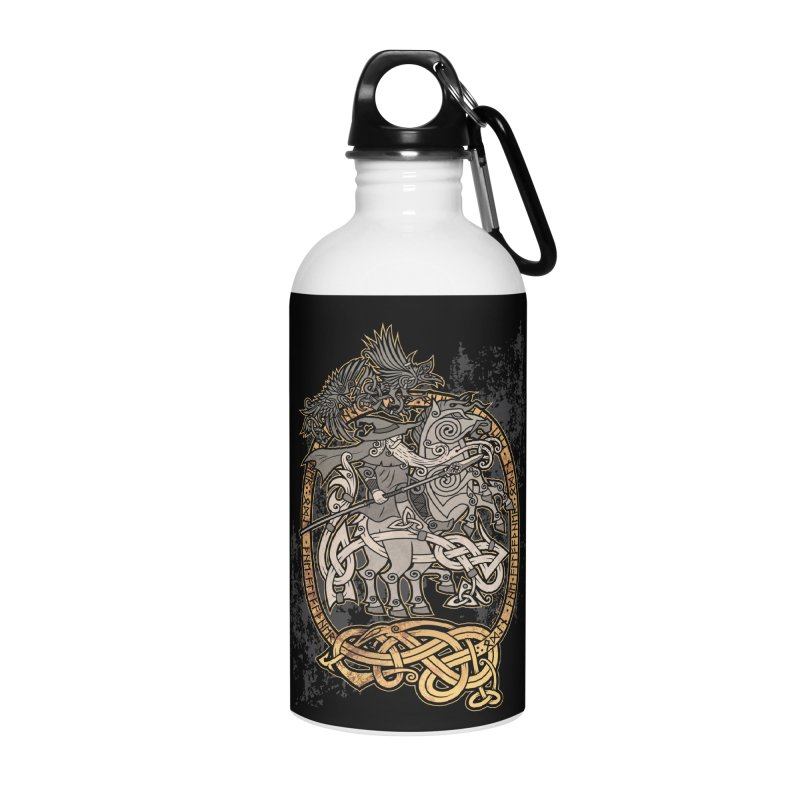 Odin the Wanderer Accessories Water Bottle by Celtic Hammer Club Apparel