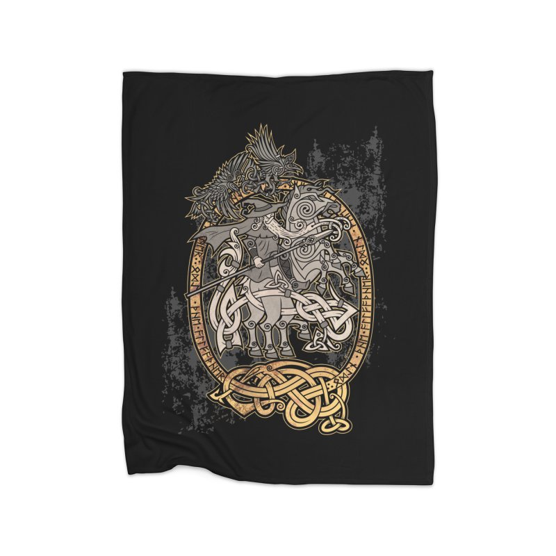 Odin the Wanderer Home Blanket by Celtic Hammer Club