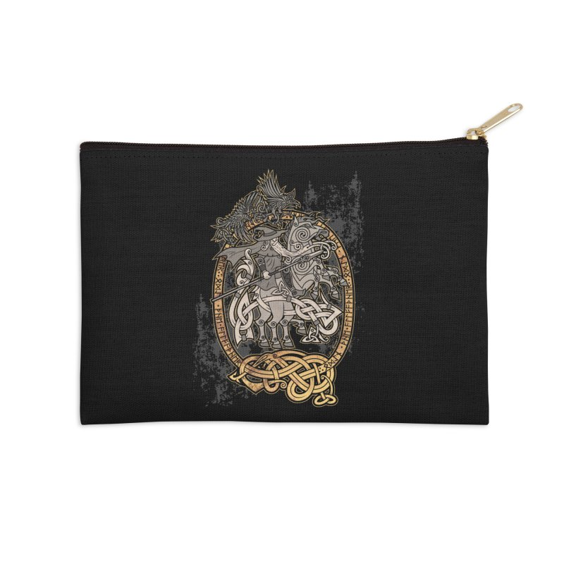 Odin the Wanderer Accessories Zip Pouch by Celtic Hammer Club