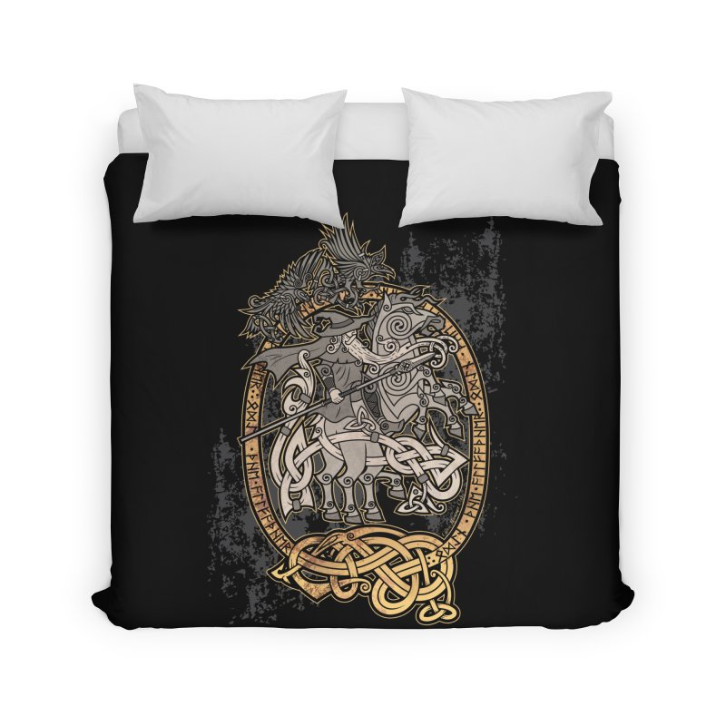 Odin the Wanderer Home Duvet by Celtic Hammer Club Apparel