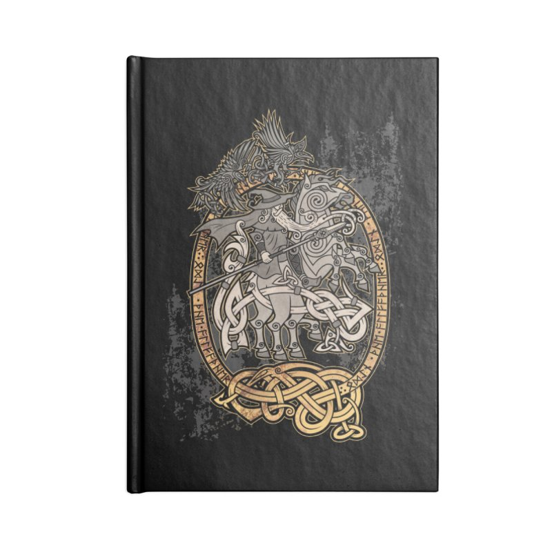 Odin the Wanderer Accessories Notebook by Celtic Hammer Club Apparel