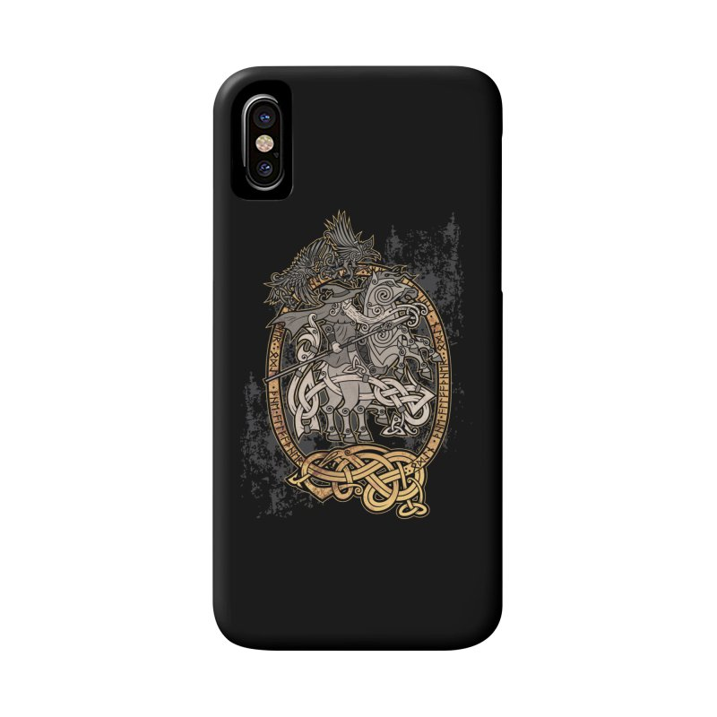 Odin the Wanderer Accessories Phone Case by Celtic Hammer Club Apparel