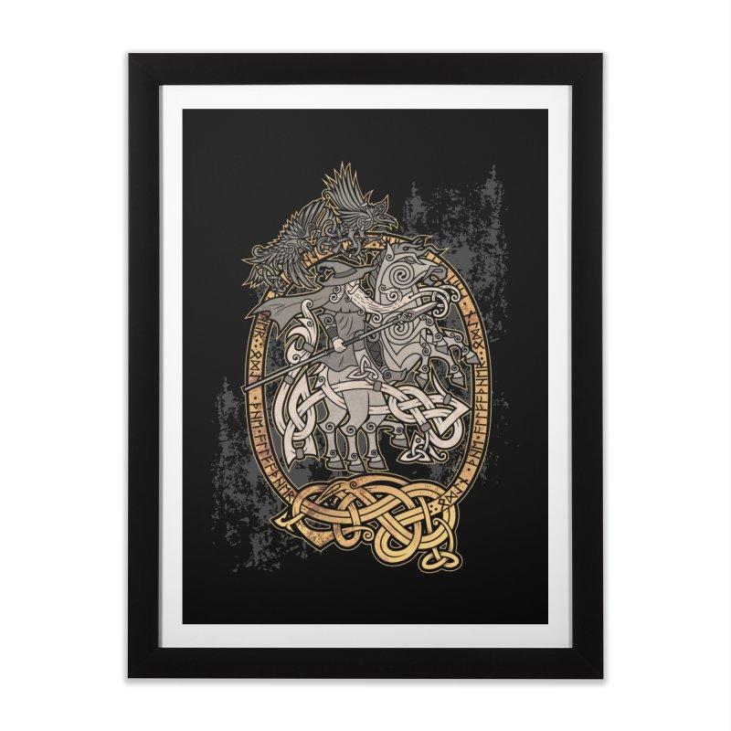 Odin the Wanderer Home Framed Fine Art Print by Celtic Hammer Club Apparel