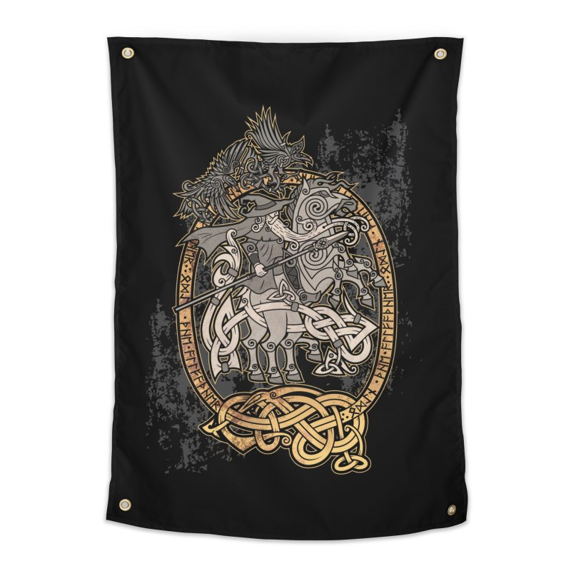 Odin the Wanderer Home Tapestry by Celtic Hammer Club Apparel