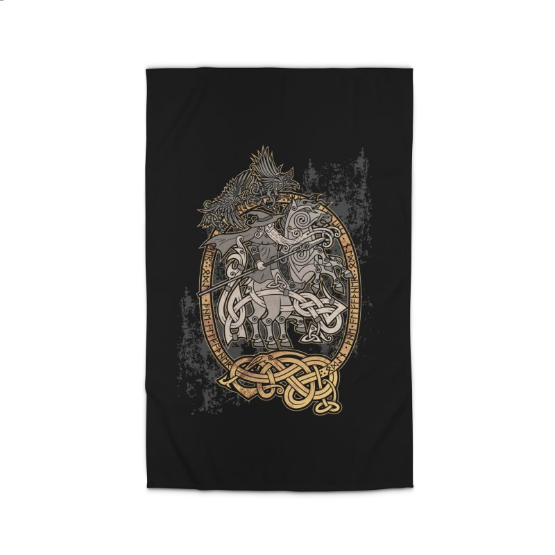 Odin the Wanderer Home Rug by Celtic Hammer Club Apparel