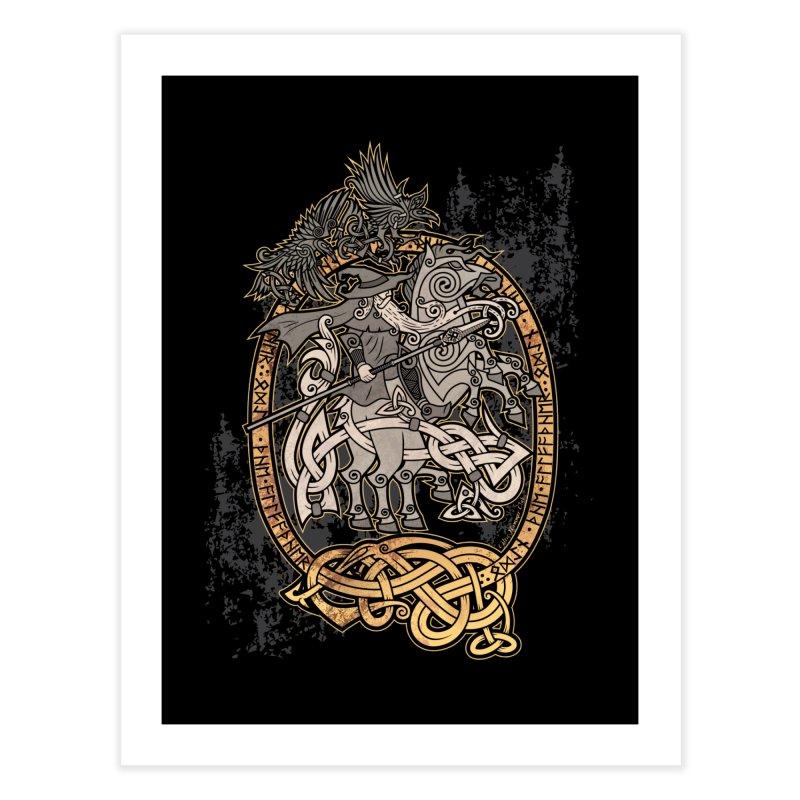 Odin the Wanderer Home Fine Art Print by Celtic Hammer Club