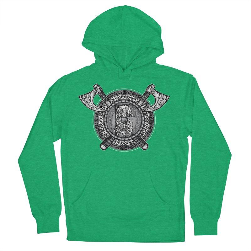 Fenrir Viking Shield (Grayscale) Women's Pullover Hoody by Celtic Hammer Club