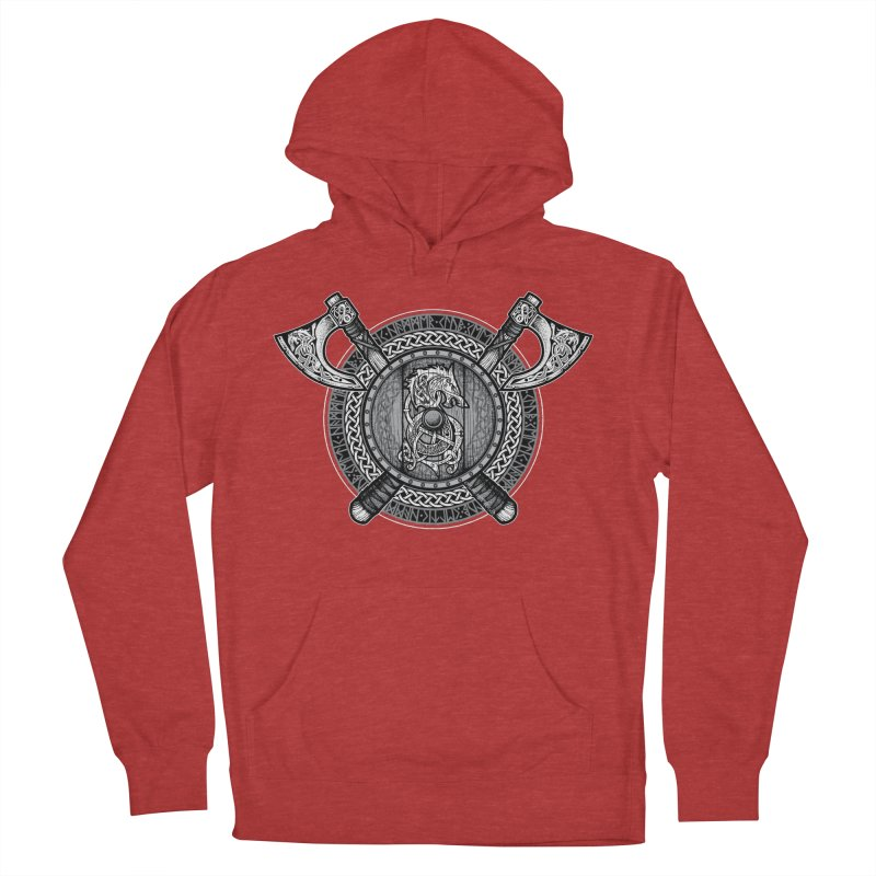 Fenrir Viking Shield (Grayscale) Women's Pullover Hoody by Celtic Hammer Club
