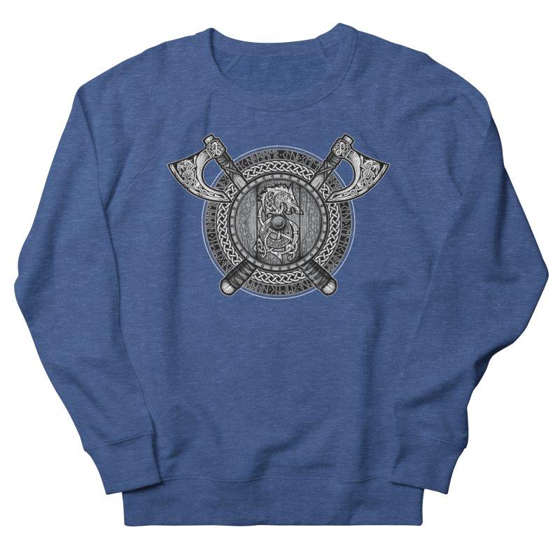 Fenrir Viking Shield (Grayscale) Men's Sweatshirt by Celtic Hammer Club