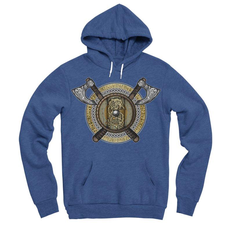 Fenrir Viking Shield (Full Color) Men's Pullover Hoody by Celtic Hammer Club