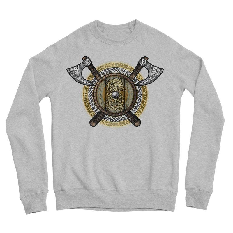 Fenrir Viking Shield (Full Color) Men's Sponge Fleece Sweatshirt by Celtic Hammer Club Apparel