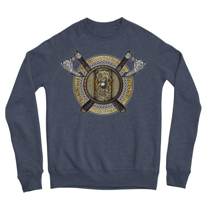 Fenrir Viking Shield (Full Color) Men's Sponge Fleece Sweatshirt by Celtic Hammer Club