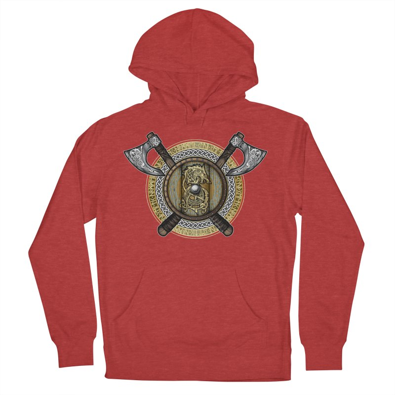 Fenrir Viking Shield (Full Color) Women's French Terry Pullover Hoody by Celtic Hammer Club