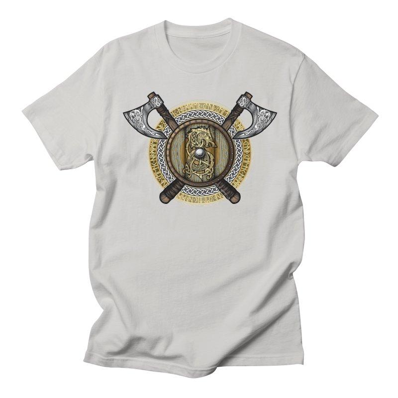 Fenrir Viking Shield (Full Color) Women's Regular Unisex T-Shirt by Celtic Hammer Club Apparel