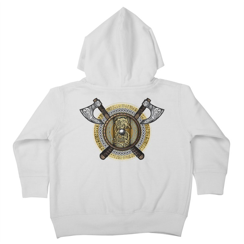 Fenrir Viking Shield (Full Color) Kids Toddler Zip-Up Hoody by Celtic Hammer Club