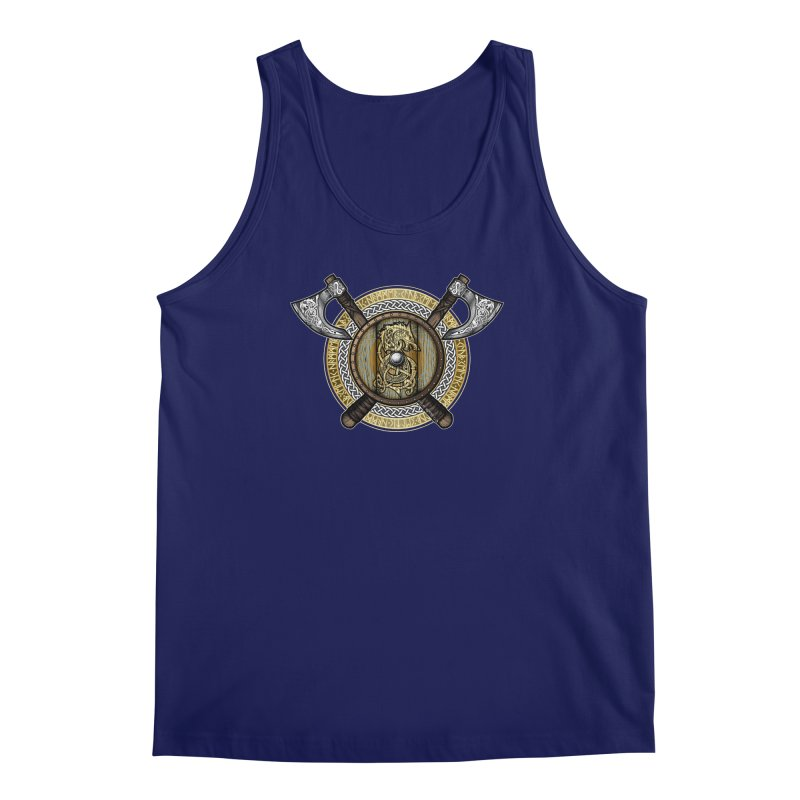 Fenrir Viking Shield (Full Color) Men's Regular Tank by Celtic Hammer Club Apparel