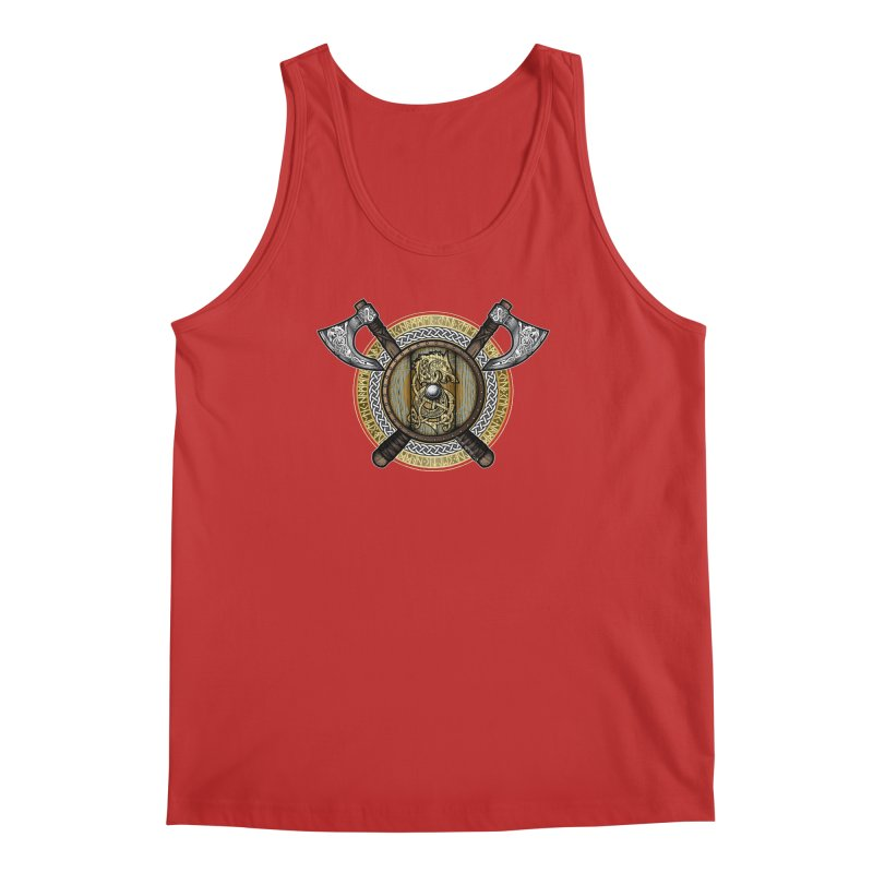 Fenrir Viking Shield (Full Color) Men's Regular Tank by Celtic Hammer Club