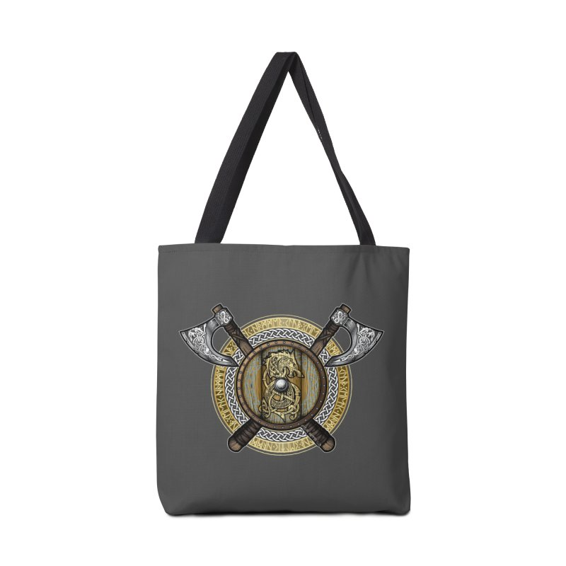 Fenrir Viking Shield (Full Color) Accessories Bag by Celtic Hammer Club Apparel