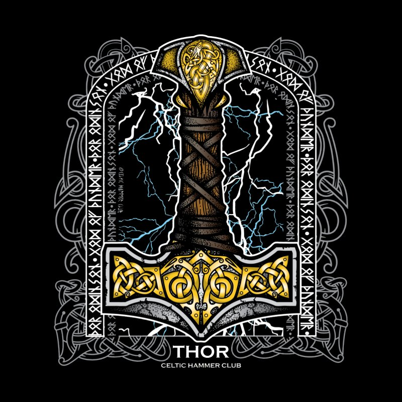 Thor Odinson, God of Thunder (Full Color) Kids T-Shirt by Celtic Hammer Club