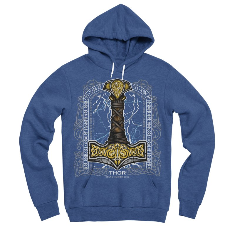 Thor Odinson, God of Thunder (Full Color) Men's Pullover Hoody by Celtic Hammer Club