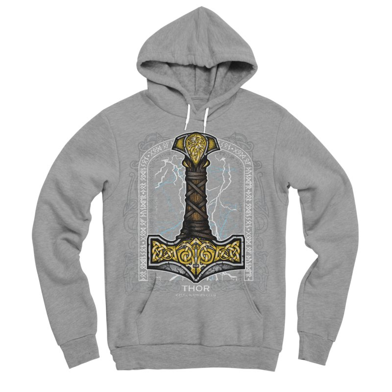 Thor Odinson, God of Thunder (Full Color) Men's Sponge Fleece Pullover Hoody by Celtic Hammer Club