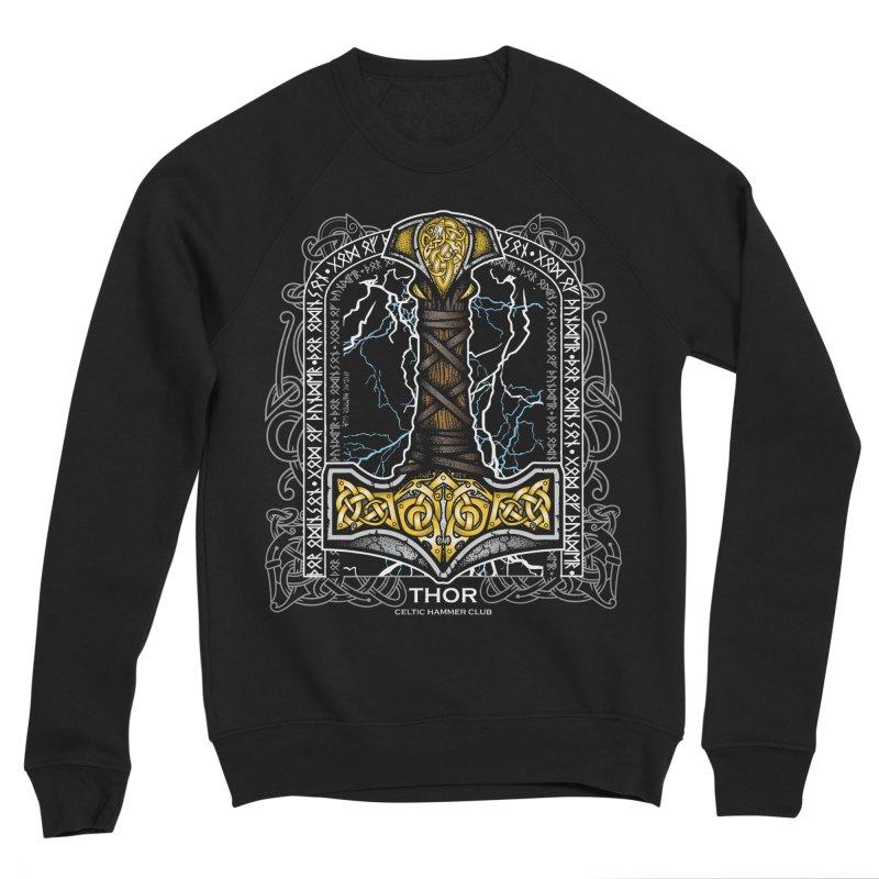 Thor Odinson, God of Thunder (Full Color) Men's Sponge Fleece Sweatshirt by Celtic Hammer Club
