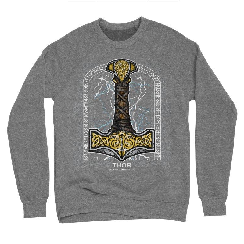 Thor Odinson, God of Thunder (Full Color) Women's Sponge Fleece Sweatshirt by Celtic Hammer Club Apparel