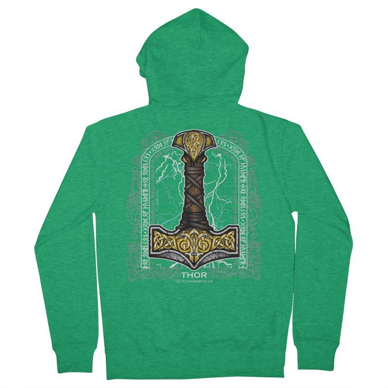 Thor Odinson, God of Thunder (Full Color) Men's Zip-Up Hoody by Celtic Hammer Club