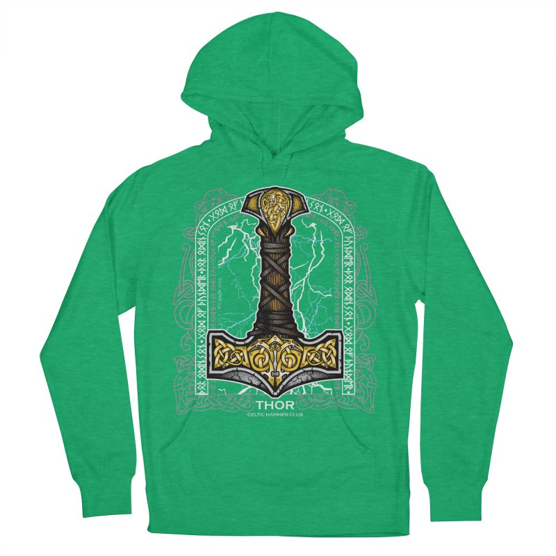 Thor Odinson, God of Thunder (Full Color) Women's French Terry Pullover Hoody by Celtic Hammer Club Apparel