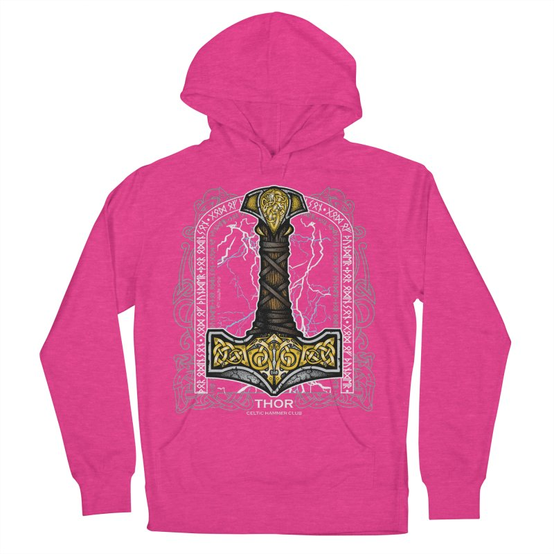 Thor Odinson, God of Thunder (Full Color) Women's French Terry Pullover Hoody by Celtic Hammer Club