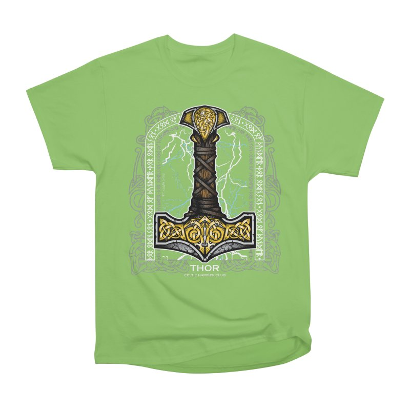 Thor Odinson, God of Thunder (Full Color) Women's Heavyweight Unisex T-Shirt by Celtic Hammer Club