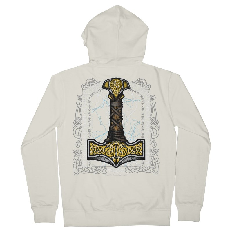 Thor Odinson, God of Thunder (Full Color) Women's French Terry Zip-Up Hoody by Celtic Hammer Club