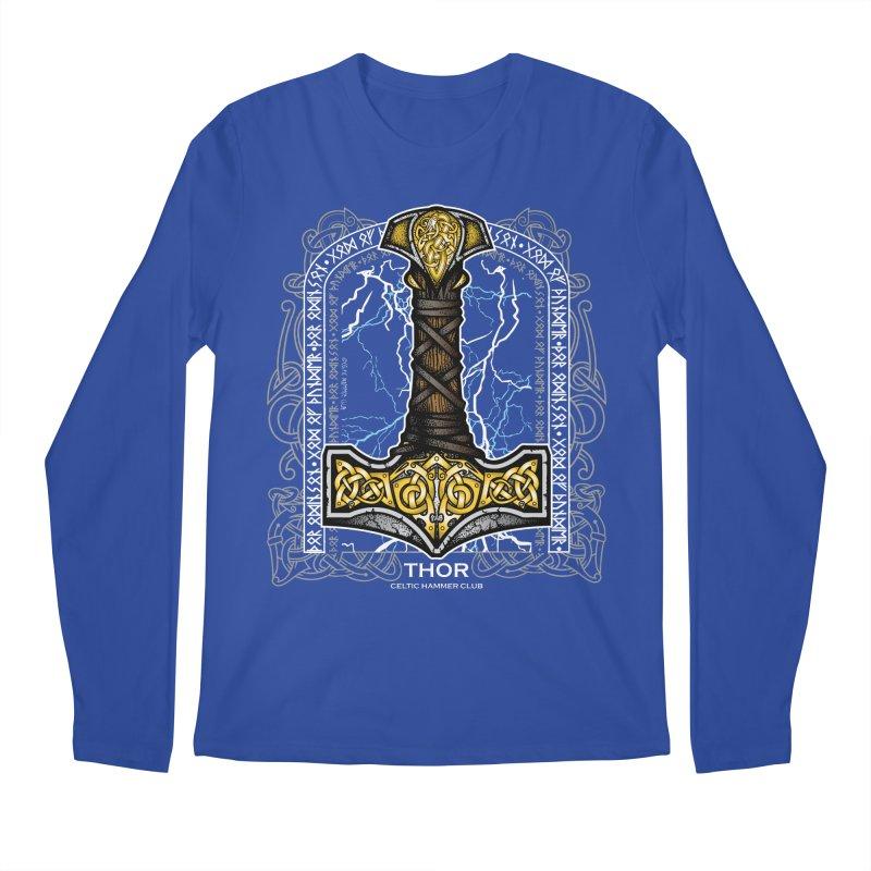 Thor Odinson, God of Thunder (Full Color) Men's Regular Longsleeve T-Shirt by Celtic Hammer Club