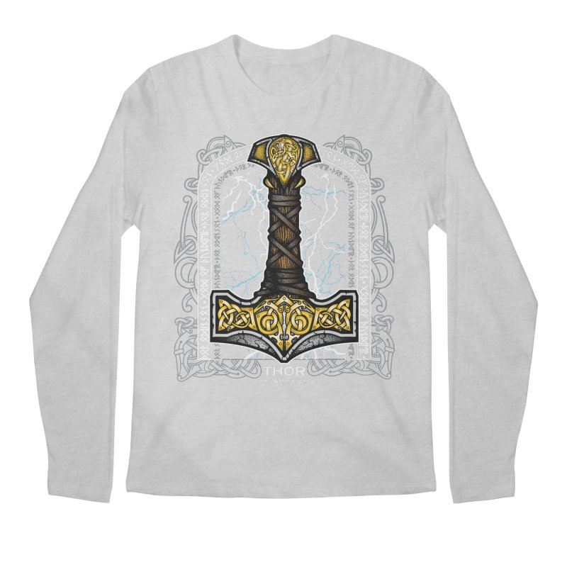 Thor Odinson, God of Thunder (Full Color) Men's Regular Longsleeve T-Shirt by Celtic Hammer Club