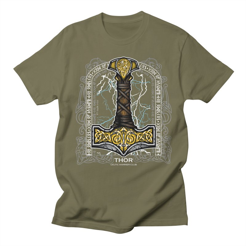 Thor Odinson, God of Thunder (Full Color) Men's Regular T-Shirt by Celtic Hammer Club