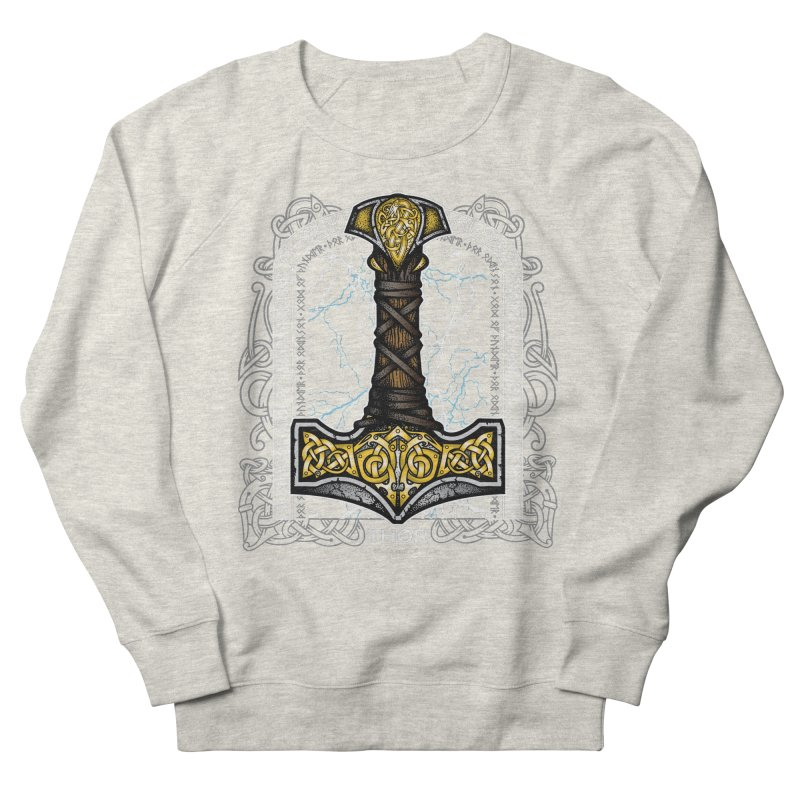 Thor Odinson, God of Thunder (Full Color) Women's French Terry Sweatshirt by Celtic Hammer Club