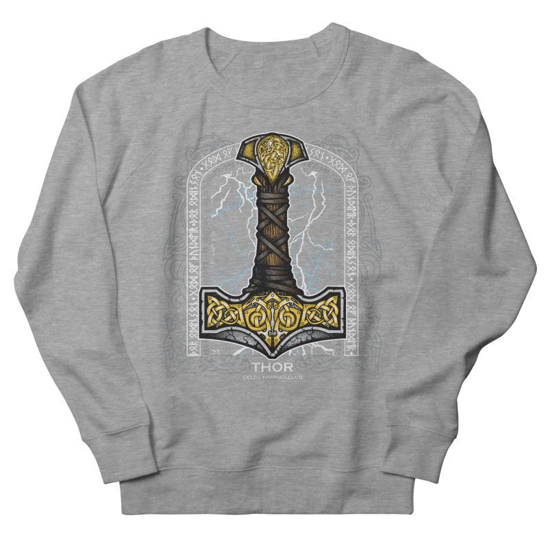 Thor Odinson, God of Thunder (Full Color) Men's French Terry Sweatshirt by Celtic Hammer Club Apparel