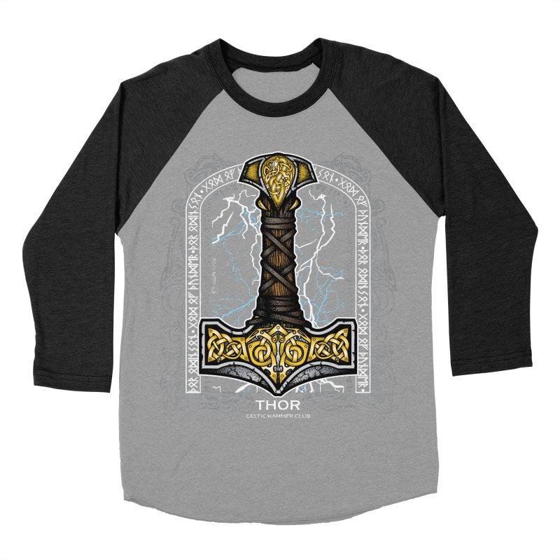 Thor Odinson, God of Thunder (Full Color) Women's Baseball Triblend Longsleeve T-Shirt by Celtic Hammer Club