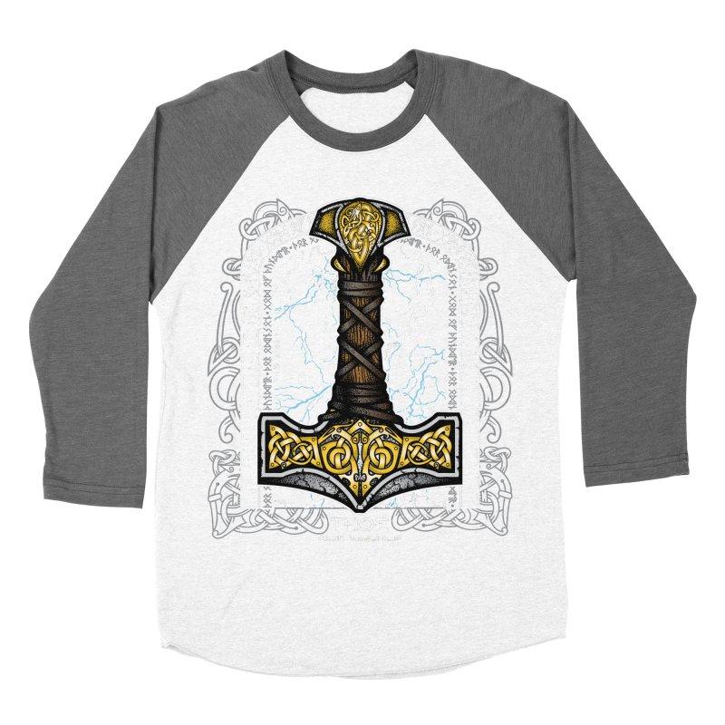 Thor Odinson, God of Thunder (Full Color) Men's Baseball Triblend Longsleeve T-Shirt by Celtic Hammer Club Apparel