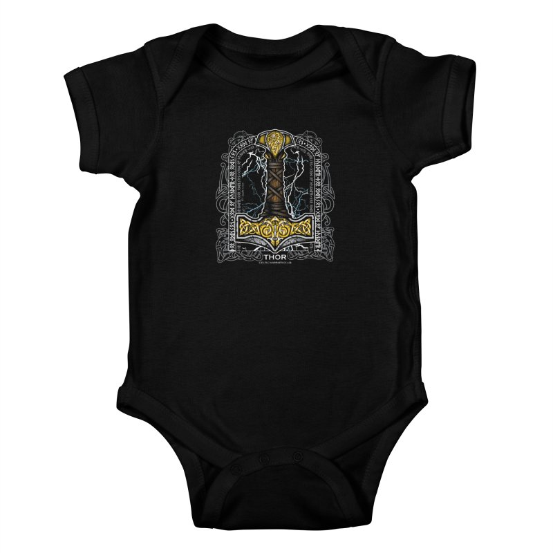 Thor Odinson, God of Thunder (Full Color) Kids Baby Bodysuit by Celtic Hammer Club Apparel