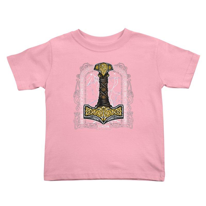 Thor Odinson, God of Thunder (Full Color) Kids Toddler T-Shirt by Celtic Hammer Club Apparel